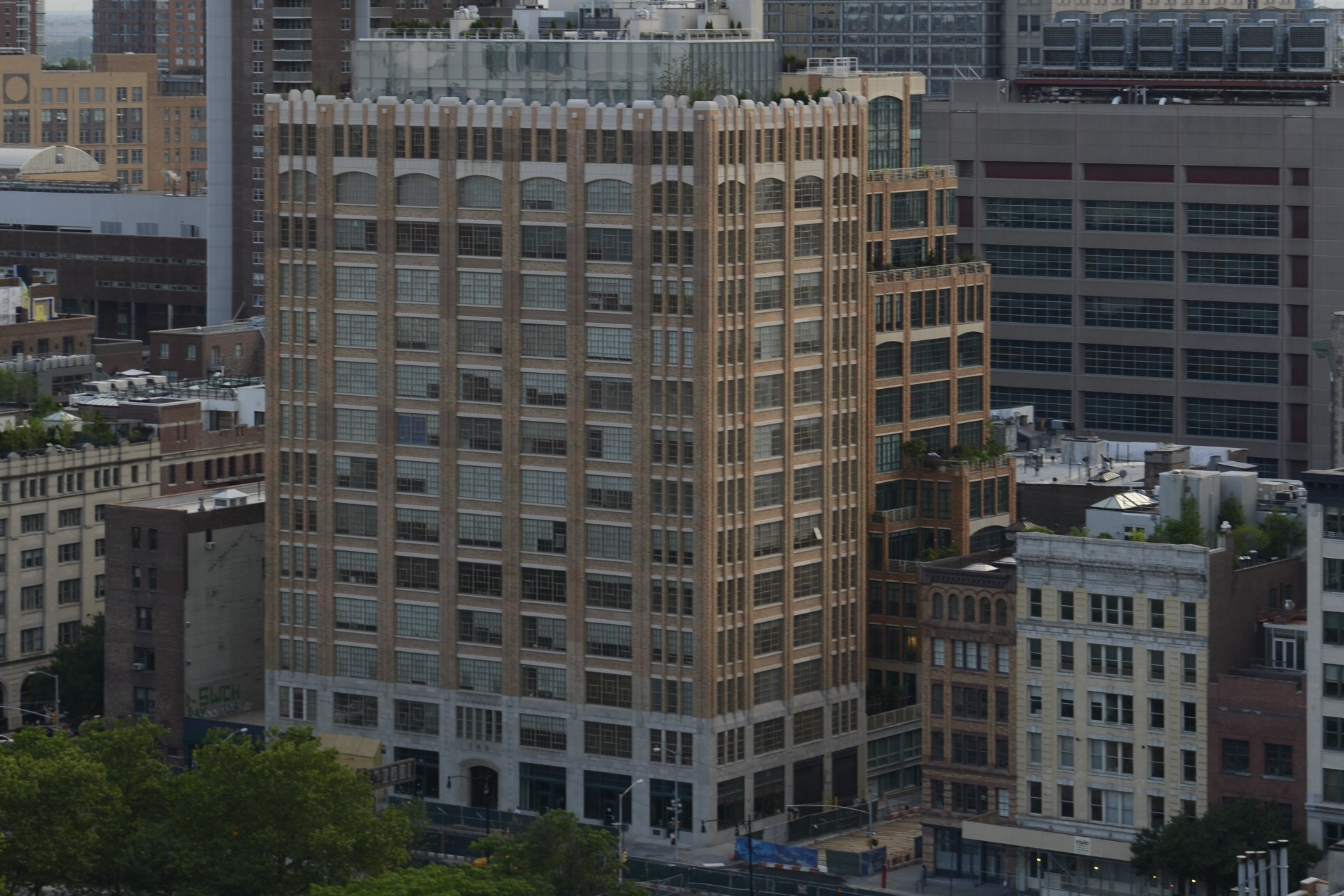 145 Hudson Street from 18th floor, 15 Thompson Street
