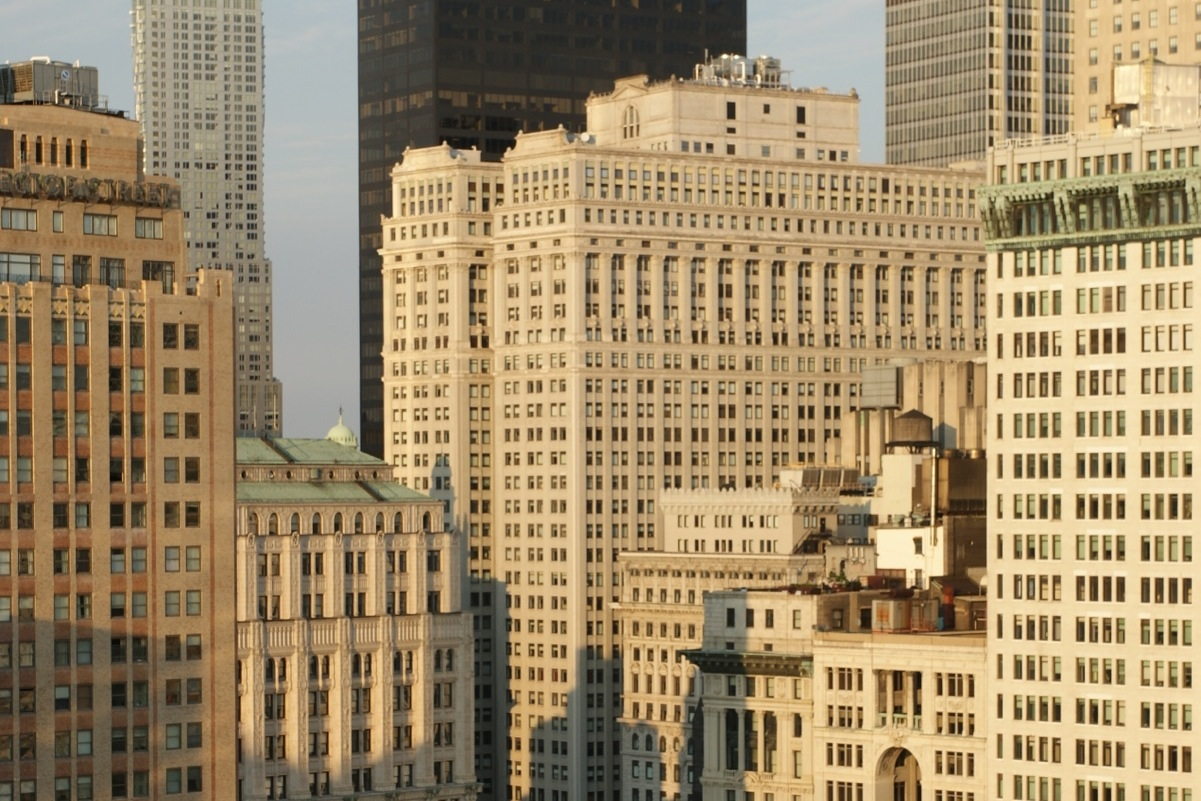 Equitable Building from penthouse, 70 Little West Street