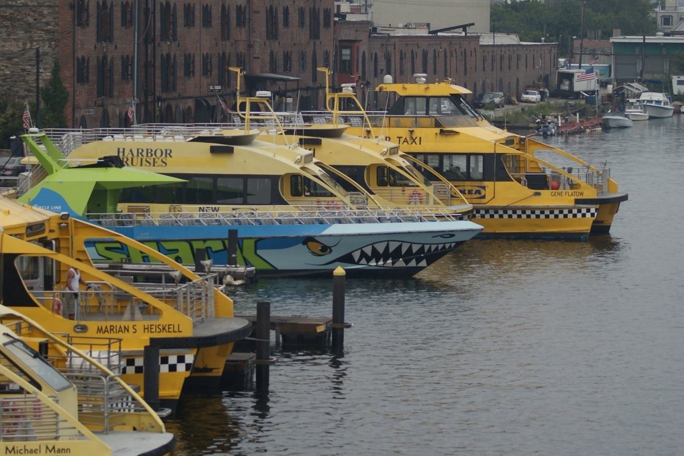 Water Taxis in Erie Basin, Red Hook