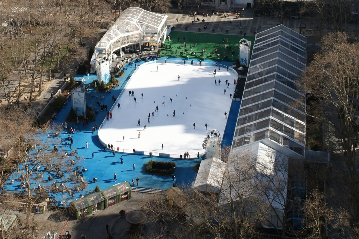 Ice Skating Rink, Bryant Park from 24th floor, 1065 Sixth Avenue