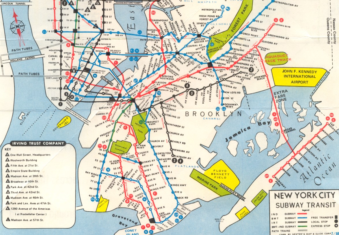 1987 Subway Map.Nyc Subway Maps Have A Long History Of Including Path Nj Waterfront