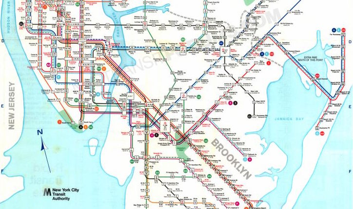 Subway Map Nyc Nj.Nyc Subway Maps Have A Long History Of Including Path Nj Waterfront
