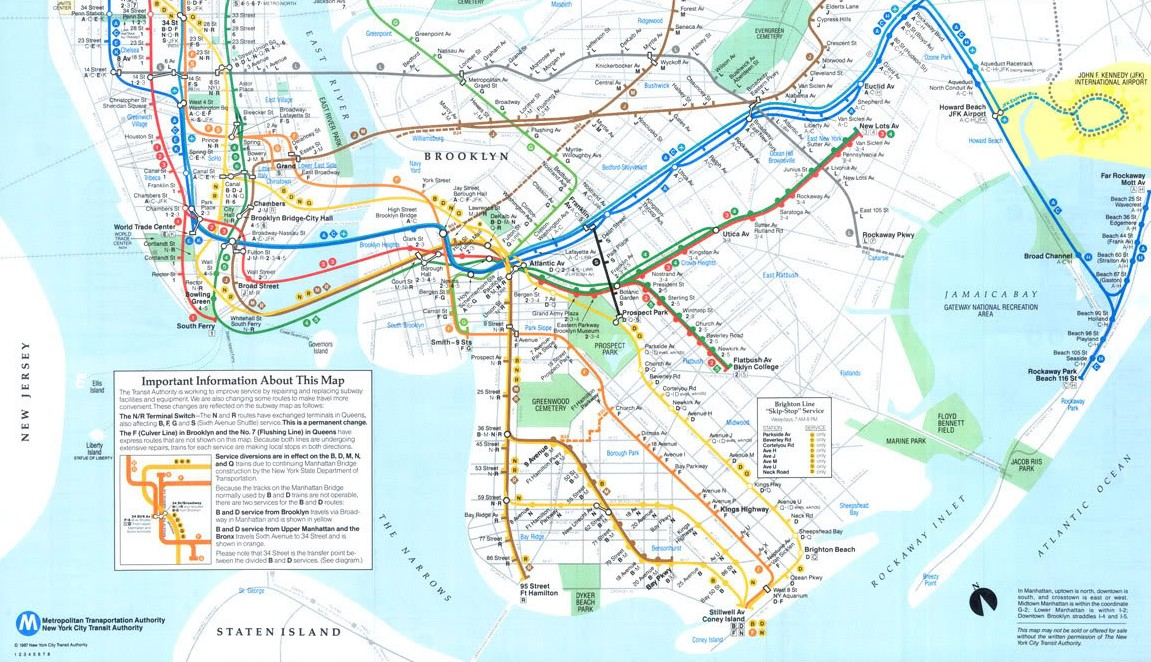 NYC Subway Maps Have a Long History of Including PATH, NJ Waterfront