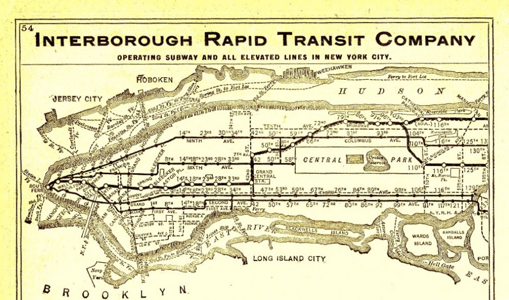 IRT 1906 subway map