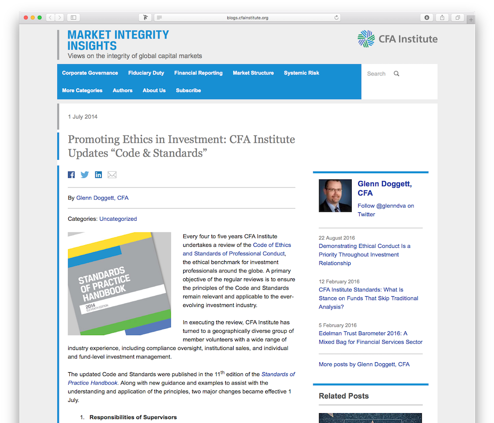 CFA Institute Blog