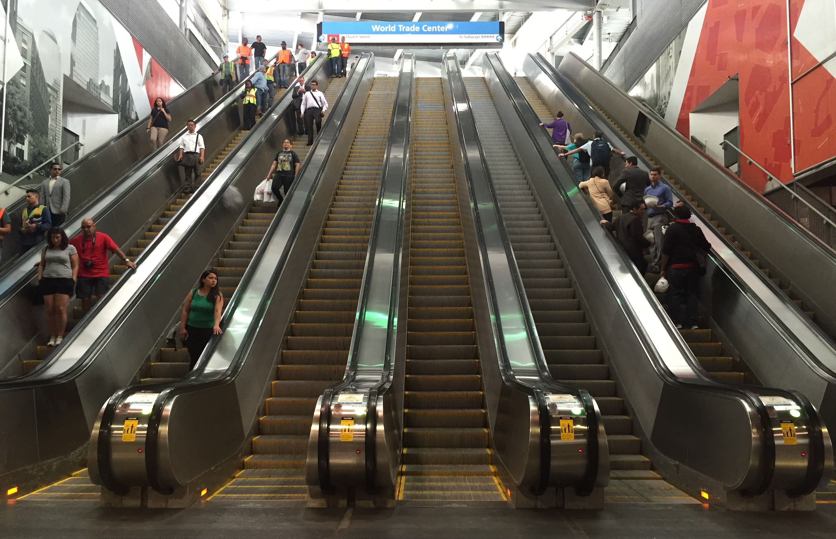 Escalator bank, Temporary WTC Station