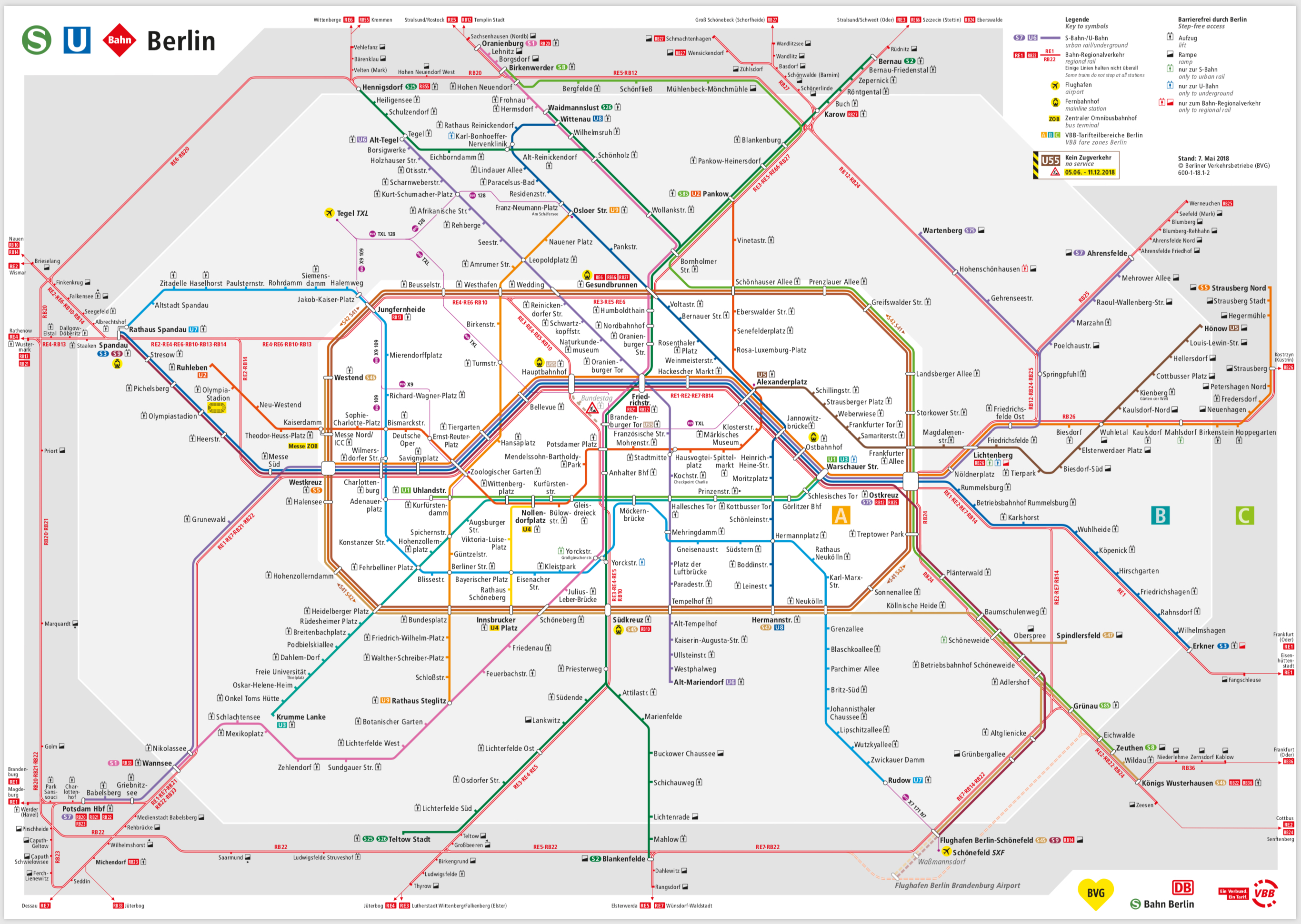 Berlin S U Bahn Map