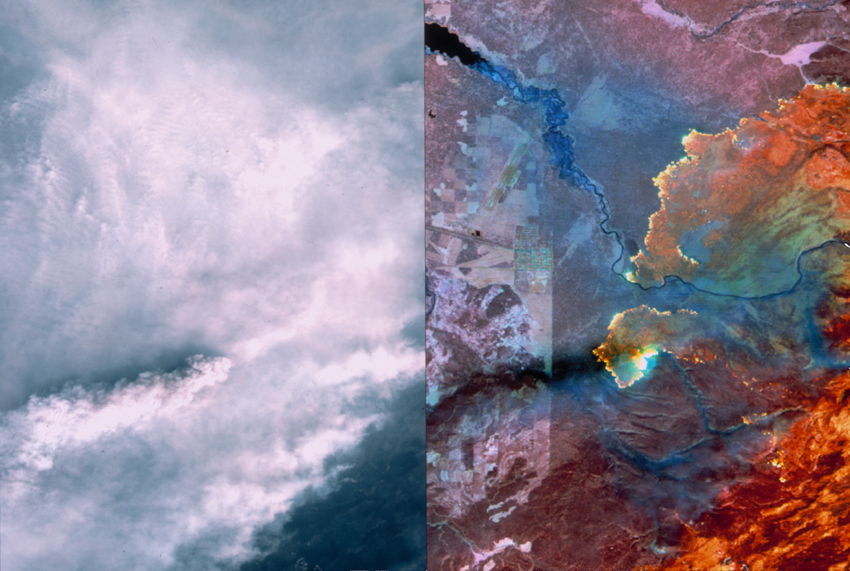 1998 Yellowstone Fire: Visible vs. Infrared
