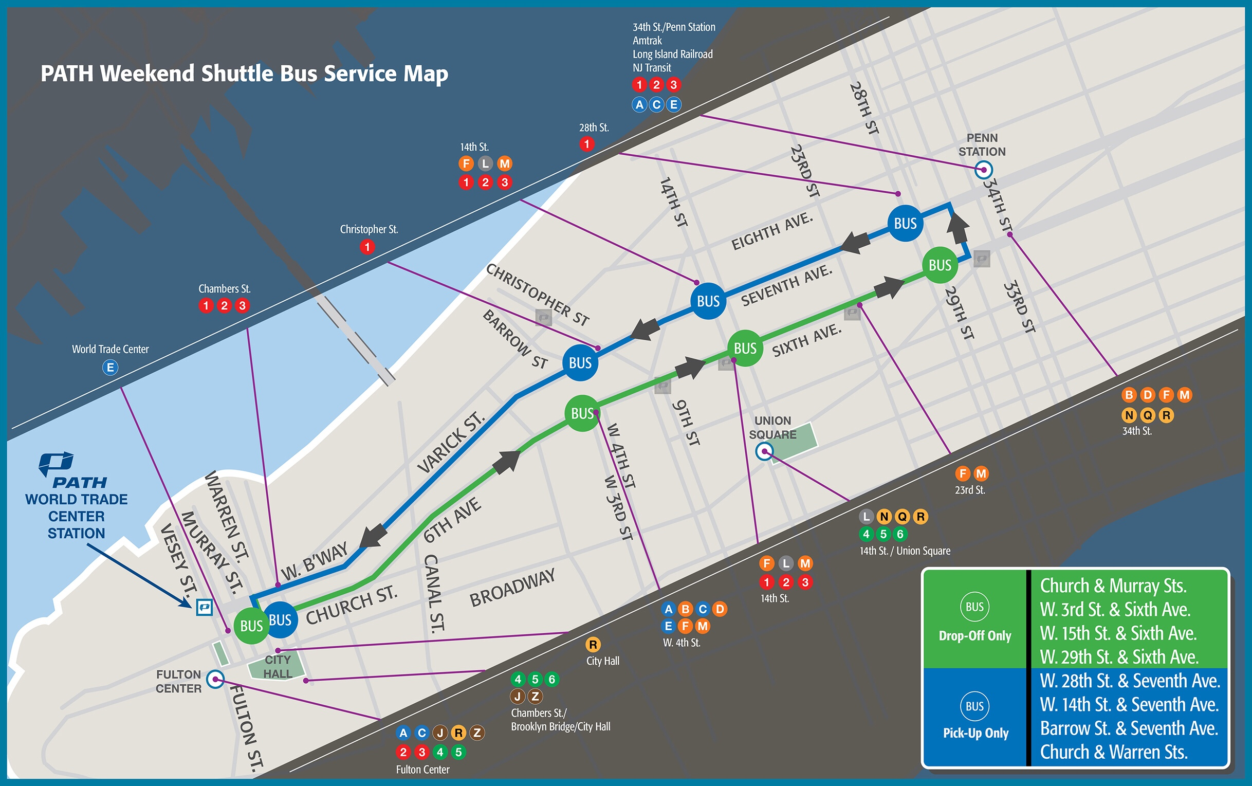 2016 PATH Sustitute Bus See Map