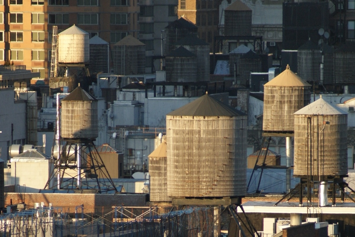 Water Tanks, NoMad from 18th floor, 80 Fifth Avenue